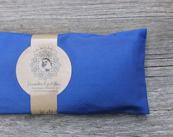 Lavender Eye Pillow • Blue • Yoga • Calm  • Eye Cover • Meditation • Organic Body Care