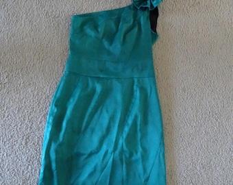 REVIEW Aqua One Shoulder Wiggle Dress