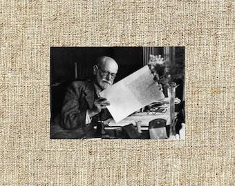 Sigmund Freud photograph, Sigmund Freud black and white photo print, Sigmund Freud vintage photograph, anniversary gift for him or her