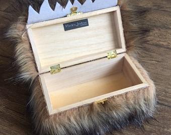 Brown Furry Monster Trinket Box