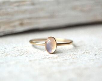 Moonstone Ring. Moonstone Oval Ring, Oval Moonstone Ring, Gold Moonstone Ring, Moonstone Gold Ring, Dainty Moonstone Ring