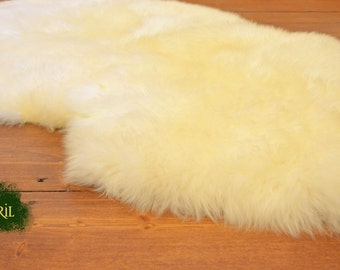 White sheep skin