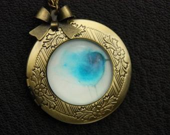 Necklace locket little blue bird 2020m
