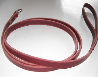"Warner Brand leather snap dog leash 5/8"" wide X 6 foot lead"