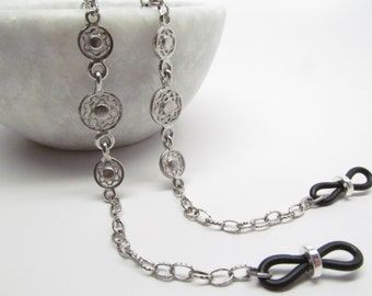 Antique Silver Glasses Chain; Chain for Readers; Reading Glasses Necklace, Eyeglass Holder, Eyeglass Leash; Glasses Cord; Kalxdesigns