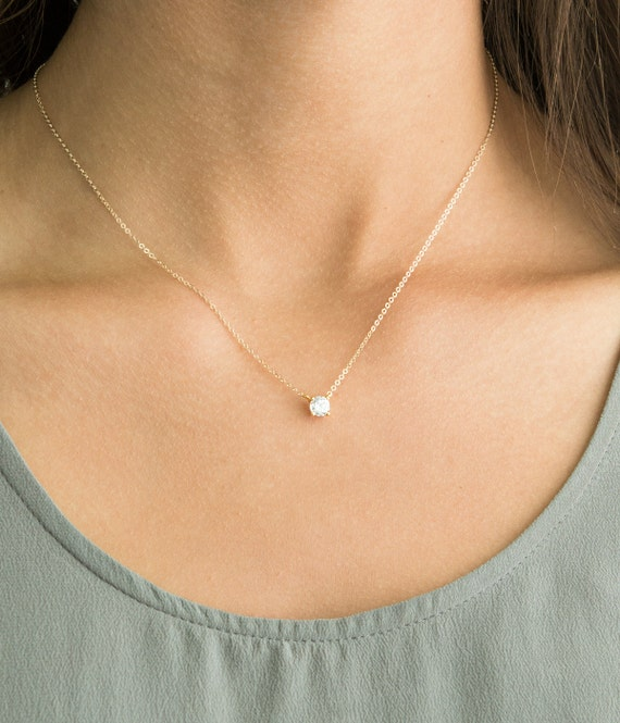 necklace delicate minimalist everyday chain minimum layering amazon jewelry gold perfect dp com