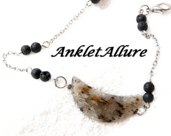 Lava Ankle Bracelet AGATE Stone Anklet BEACH Anklets for Women Guarantee