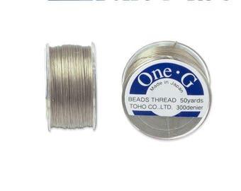 Reel 46 m One - G (Toho) 0.25 mm BEIGE thread