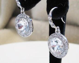 Crystal Teardrop Earrings Wedding Earrings Bridal Earrings Crystal Jewelry Rhinestone Jewelry Wedding Jewellery Pageant Jewelry