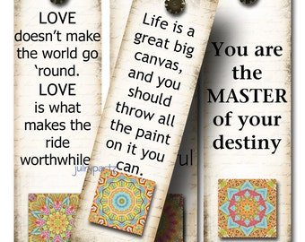 OM Bookmarks, GYPSY SOUL, Yoga Bookmark, Rectangle Image ,Printable Digital Images, Gift Tags, Yoga tag, Meditation, Printable Bookmark