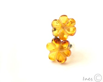 Baltic Amber Camomile Earrings