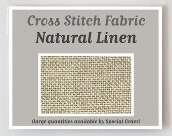 NATURAL RAW 32 36 ct. count cross stitch fabric linen Zweigart hand embroidery Edinboro New Castle