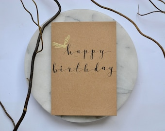 Handcrafted cards etsy happy birthday greeting card birthday card hand lettered greetings card calligraphy style bookmarktalkfo Images