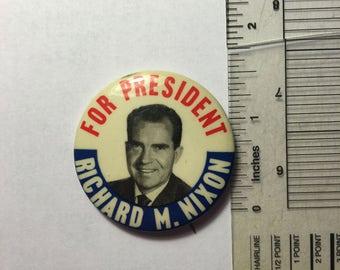 1968 Richard M. Nixon President Campaign Button - 1 1/2 inches