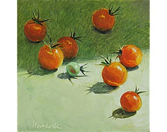 Eight Sun Gold Tomatoes, Kitchen Art, Garden Beauties, Cherry Tomatoes