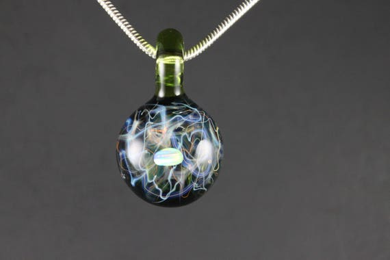 Free shipping silver and gold fumed glass chaos pendant aloadofball Gallery