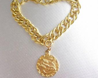 SCORPIO  Charm Bracelet Vintage Horoscope Fob  OCT 24 through NOV 22 Birthday Mens Womens Astrology