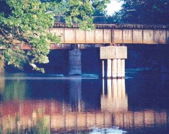 Train Bridge PDF Cross Stitch Pattern