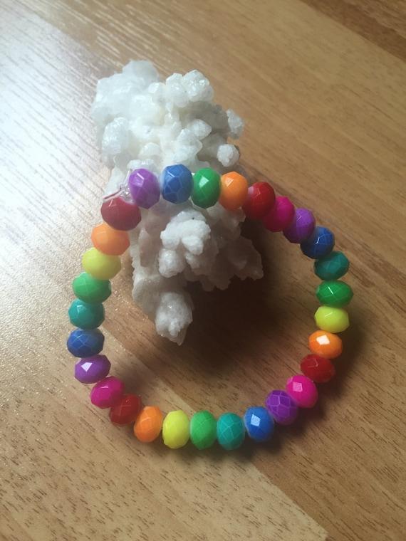 Rondelle Rainbow Chakra Bracelet