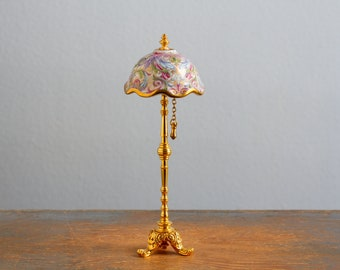 Reutter Porzellan Germany Floor Lamp - 1:12 Scale Vintage Dollhouse Accessory