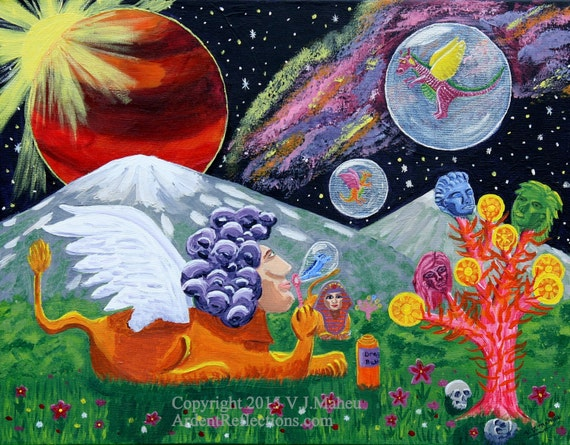New Trippy Space Wallpaper Dodskypict: Space Painting Surreal Art Trippy Art Space Art Sphinx