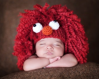 Elmo, Red Monster Hat, Newborn Photography Prop