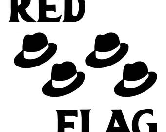 Red Flag Art Print