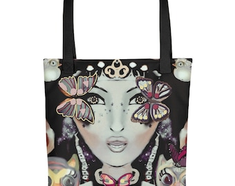 Retro Madam Flutterby Tote bag