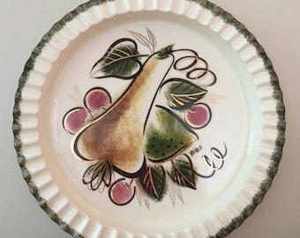 Vintage Sascha Brastoff California Modern Porcelain Hand-Painted Platter