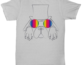 Kool Dog in Top-Hat and Glasses T-Shirt