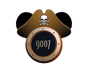 Porthole Mickey Ears | Pirate Mickey | Disney Cruise Magnet | Instant Download