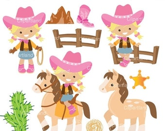 ON SALE INSTANT Download. Cowgirls  clip art. Ccowg_17. Personal and commercial use.