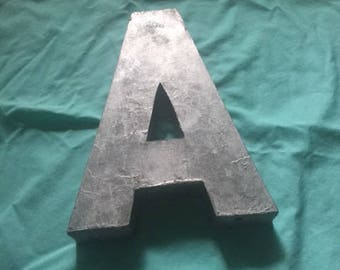 "Three dimensional industrial metal letter ""A"""