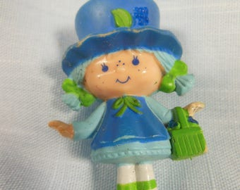 Vintage Strawberry Shortcake Miniature-Blueberry Muffin-With A Basket