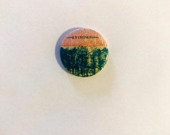 Vintage 1980s Joy Division Pinback Button Badge - Atmosphere UK Single Edition Cover Art Logo (INCREDIBLY RARE)