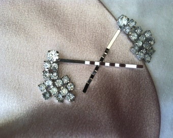 Vintage strass Dangle Hair Pin Set - mariage élégance