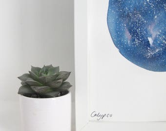 C A L Y P S O - Original Galaxy Watercolour Painting