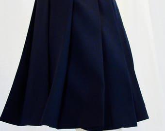 Navy Blue Pleated Skirt~School Girl Pleated Skirt~School Uniform Navy Skirt~Cosplay Costume Navy Skirt Plus size halloween skirt@sohoskirts