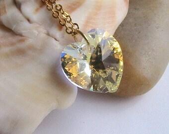 Aurora Borealis Swarovski-Kristall-Kette, Swarovski Kristall Halskette, Clear, Crystal, Wedding, Bridal Bridesmaids