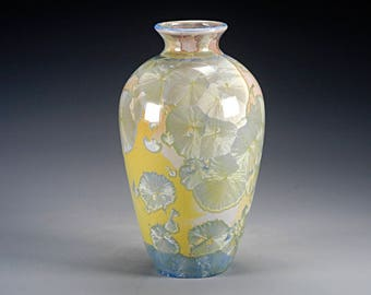 Porcelain Vase - Crystalline Glaze - Multicolored -  Hand Made Ceramics - FREE SHIPPING - #A-5064