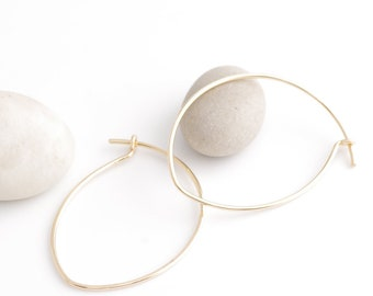 Pure and Simple Gold Hoop Earrings