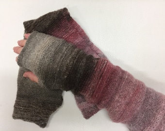 Fingerless gloves fingerless mittens fingerless knit fingerless fingerless mittens wrist warmers hand warmers long  knit arm warmers