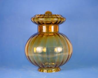 Vintage globe amber glass lamp shade, glass, hanging, interior design, amber globe lampshade, home decor
