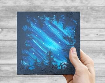 Starlight Canopy - ORIGINAL 6x6 Acrylic on Canvas Board