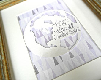 Purple Nursery Decor, Travel Nursery, Travel Theme Nursery, Travel Nursery Decor, Travel Nursery Art, Welcome to the World, Map Nursery Art