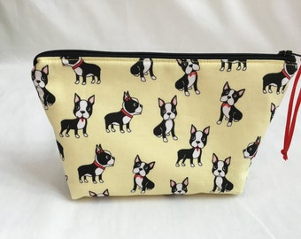 Boston Terrier Zipper Gadget Bag, Cosmetic Bag, Jewelery Bag