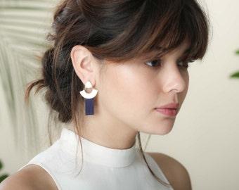 Eco Earrings, Suede Earrings, Suede Strands, Golden Earrings, Colorful Earrings, Statement Jewelry, Summer Jewelry