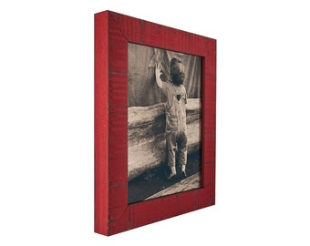 "Craig Frames, 24x24 Inch Flag Red Picture Frame, Lancashire, 1.5"" Wide (1500132424)"