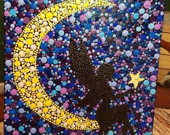 Fairy Moon Dot Painting