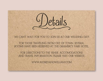 Chalkboard wedding invitation template for word or pages